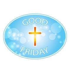 good friday with cross banner vector image