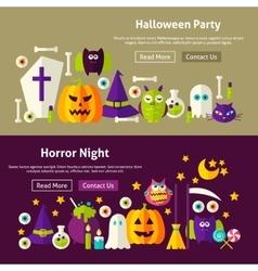 Halloween Website Banners vector