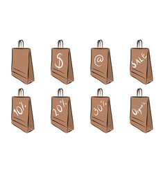hand drawn shopping bags vector image