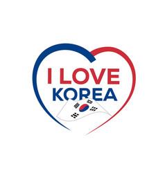 i love korea vector image