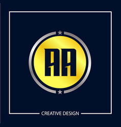 Initial letter aa logo template design vector