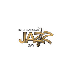 jazz international day vector image