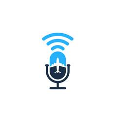 Journey podcast logo icon design vector