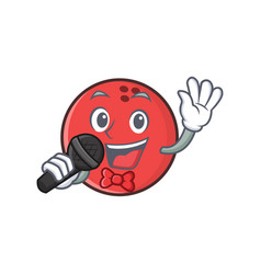 Karaoke bowling ball character cartoon vector