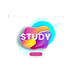 landing page template can be used for education vector image