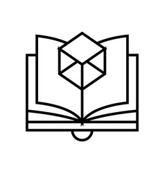 Learninng part line icon concept sign outline vector