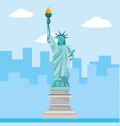 liberty statue monument vector image