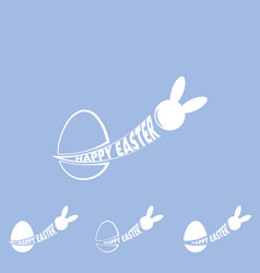 logo easter rabbit the rabbit flies out of the vector image