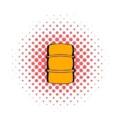 Metal barrel comics icon vector