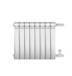 metal cast radiator for indoor steam heating vector image