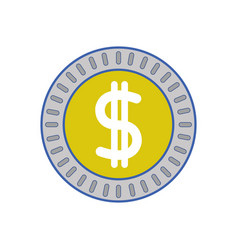 Metal coin cash money vector