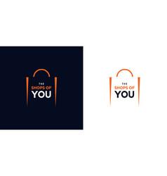 modern and elegant shopping bag logo design 1 vector image