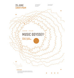 music odyssey festival poster design vector image