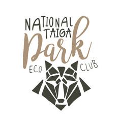 National park eco club design template hand vector
