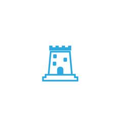 old castle tower big door in windows logo vector image