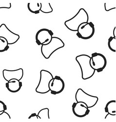 Operator with microphone seamless pattern vector