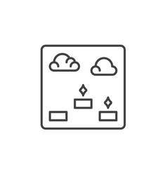platformer video game outline icon platform game vector image