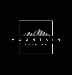 premium mountain logo design vector image
