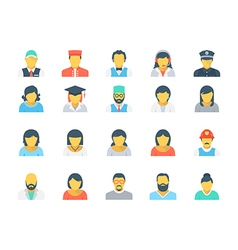 Professions Colored Icons 5 vector