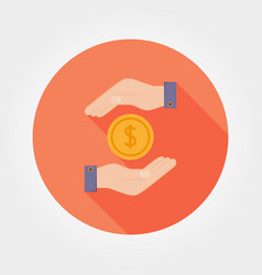 Protection of financial investments icon vector