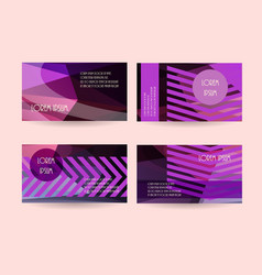 Purple leaflet flyers header website backgrounds vector