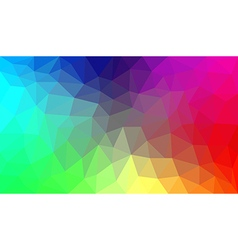 Rainbow abstract polygon background vector