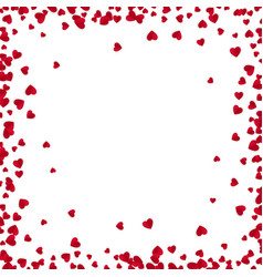 red hearts frame with place for text isolated vector image