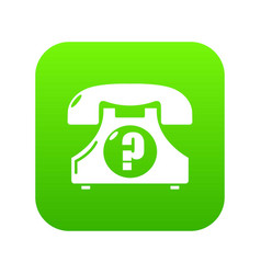 retro phone icon green vector image