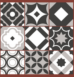 retro seamless tile pattern geometric decorative vector image