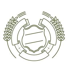 Ribbon shield and ears vector
