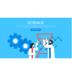 science people web landing page template vector image