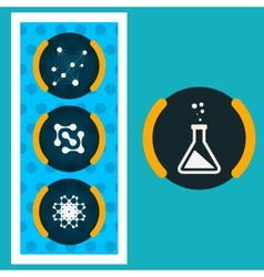 Set icons chemical experiments eps vector