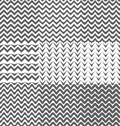 set zig zag patterns background vector image