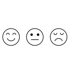 Smiley sad neutral face feedback satisfaction vector