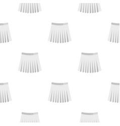 Tennis female skirt pattern flat vector