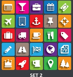Trendy Icons With Shadow Set 2 vector image