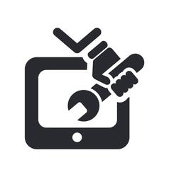 Tv repairman icon vector
