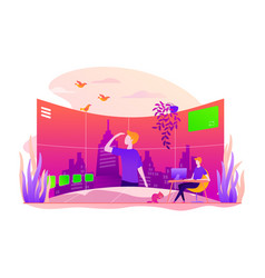 Virtual tour concept vector