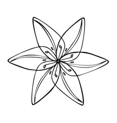 Wild flower icon simple style vector