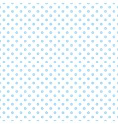 Blue polka dots on white background tile pattern vector image vector image