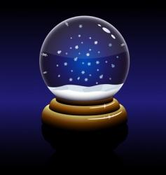 Christmas glass globe vector image