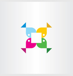 colorful fish logo icon sign vector image