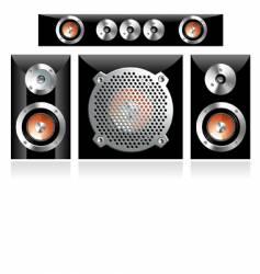 loudspeakers vector image vector image