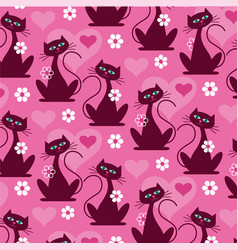 mod cat pattern background pattern vector image