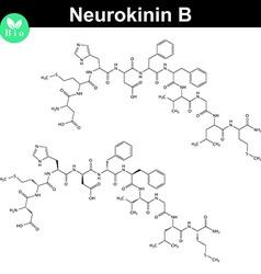 Neurokinin B chemical formula vector image vector image