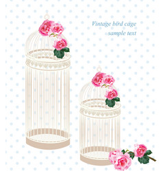 retro style floral decorations for wedding vector image