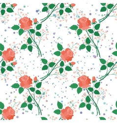Seamless floral background roses vector image