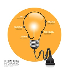technology infographic plug line idea innovation vector image vector image