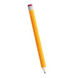 yellow pencil wood icon vector image