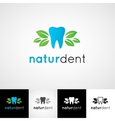 Creative dental logo template dentist clinic vector image vector image